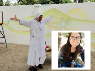 Sr. Clare and Cinthia