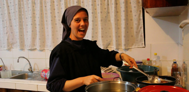 Sr. Clare cooking