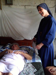 Sr. Clare and a sick person