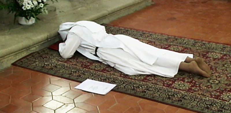 Sr. Clare during the Mass of her perpetual profession (2010)