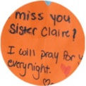 We Miss You, Sr. Clare!